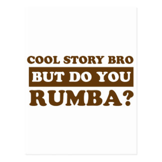 Rumba dance design postcard