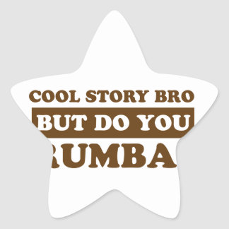 Rumba dance design star sticker