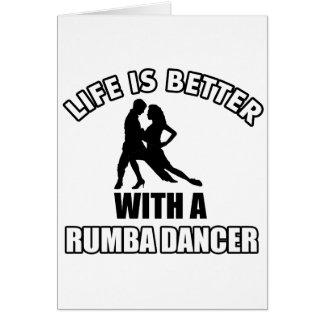Rumba dance designs card