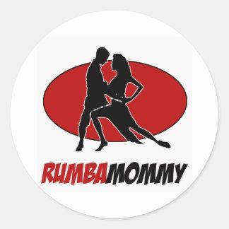 rumba DANCE DESIGNS Classic Round Sticker