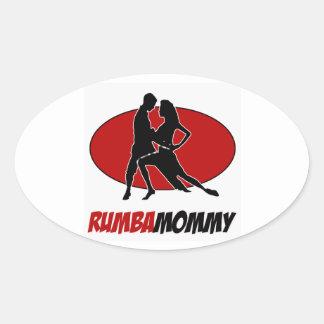 rumba DANCE DESIGNS Oval Sticker