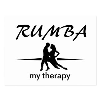 Rumba dance designs postcard