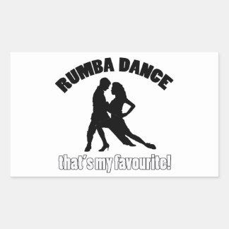 Rumba dance designs rectangular sticker