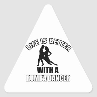 Rumba dance designs triangle sticker