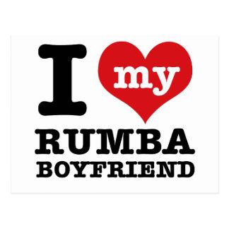 Rumba dance gear postcard
