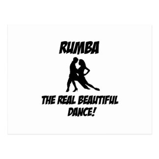 rumba dance postcard