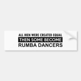 Rumba Dancing designs Bumper Sticker