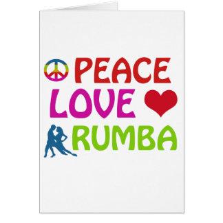 Rumba Dancing designs Card