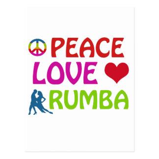 Rumba Dancing designs Postcard