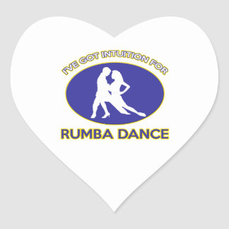 rumba design heart sticker