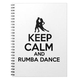 Rumba design spiral note books