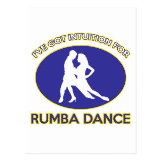 rumba design postcard