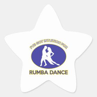 rumba design star sticker