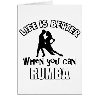 Rumba designs and merchandise card