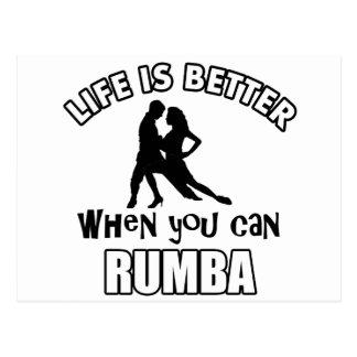 Rumba designs and merchandise postcard