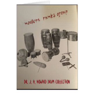 Rumba percussion instruments greeting card