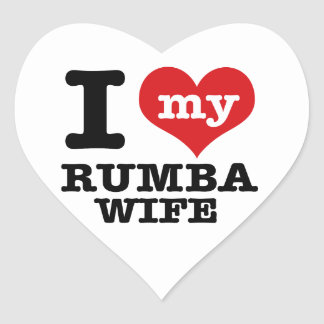 rumba wife heart sticker