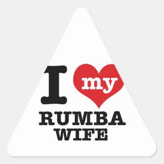 rumba wife triangle sticker