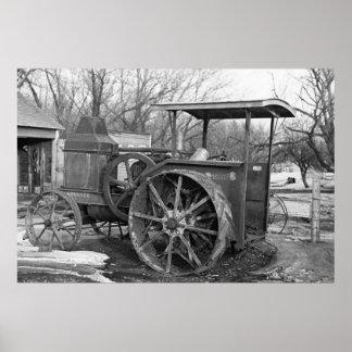 Rumely anticipado Tractor, 1936 Póster
