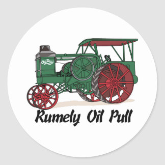 Rumely Oil Pull Tractor Classic Round Sticker