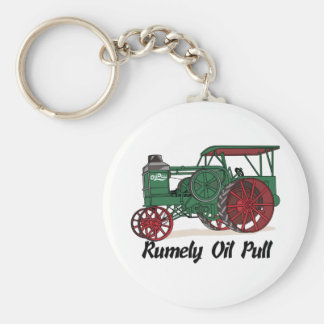 Rumely Oil Pull Tractor Keychain