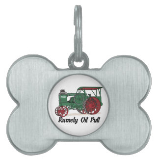 Rumely Oil Pull Tractor Pet Name Tag