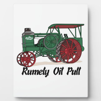 Rumely Oil Pull Tractor Photo Plaque
