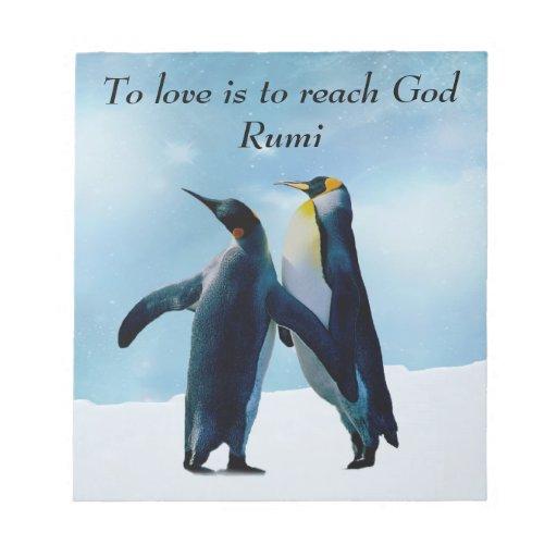 Rumi al amor es alcanzar a dios libretas para notas