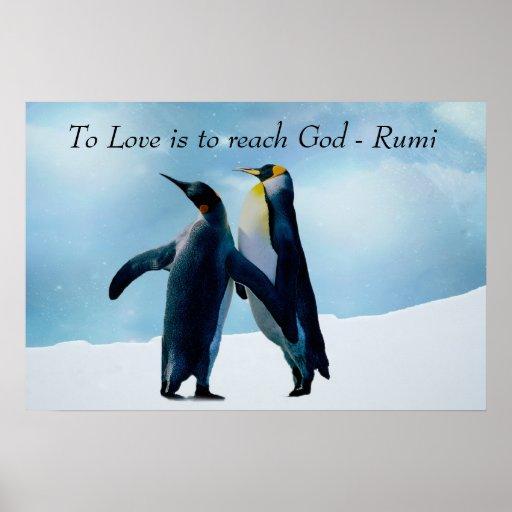 Rumi al amor es alcanzar a dios póster