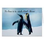 Rumi al amor es alcanzar a dios tarjeta de felicitación
