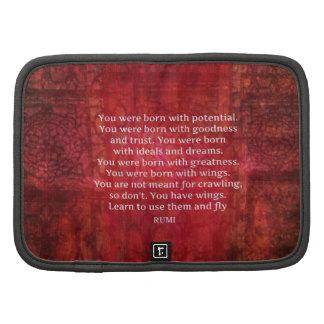 Rumi anima CITA de motivación inspirada Planificadores