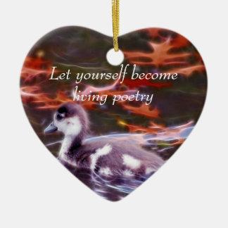 Rumi become living poetry ceramic ornament