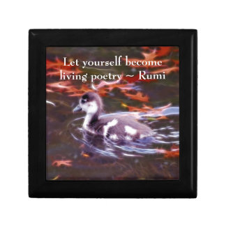 Rumi become living poetry trinket box