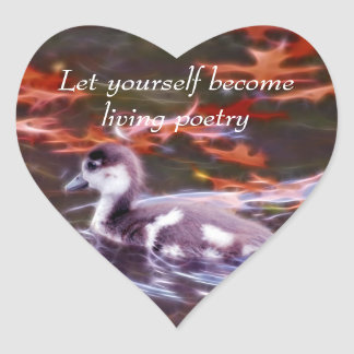 Rumi become living poetry heart sticker