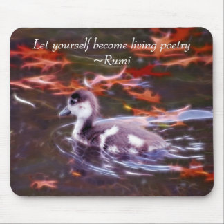 Rumi become living poetry mouse pad
