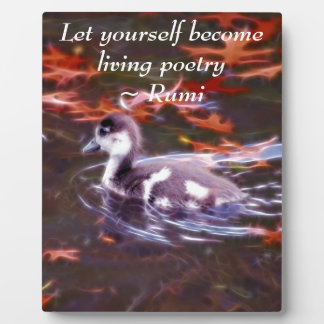 Rumi become living poetry plaque