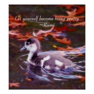 Rumi become living poetry poster