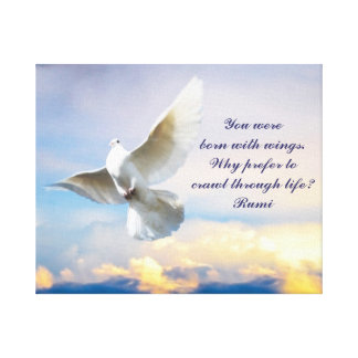Rumi born with wings canvas print
