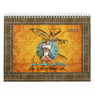 RUMI Calendar 2013 with uplifting love poems