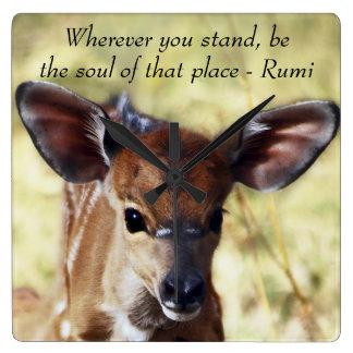 Rumi dondequiera que usted se coloque reloj cuadrado