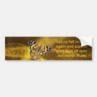 Rumi Fall in love again Bumper Sticker