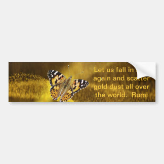 Rumi Fall in love again Bumper Sticker