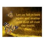 Rumi Fall in love again Postcard