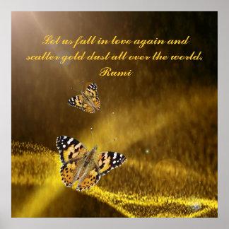 Rumi Fall in love again Poster