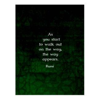 Rumi inspirado teniendo cita de la fe postales