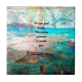 Rumi Inspiration Quote About The Universe Tile