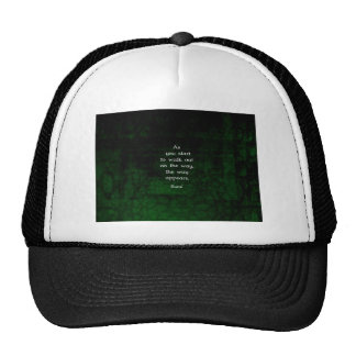 Rumi Inspirational Having Faith Quote Mesh Hat