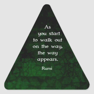 Rumi Inspirational Having Faith Quote Triangle Sticker