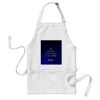 Rumi Inspirational Love Quote About Feelings Adult Apron