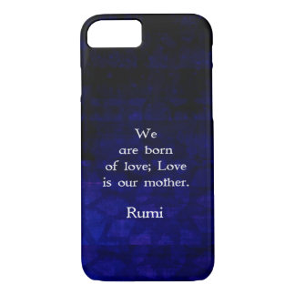 Rumi Inspirational Love Quote About Feelings iPhone 8/7 Case